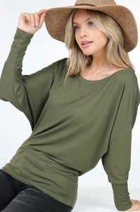 Basic Batwing Tee (5 Colors)