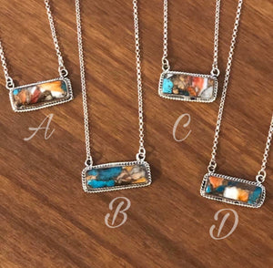 S S Bar B Mixed Stone Necklaces