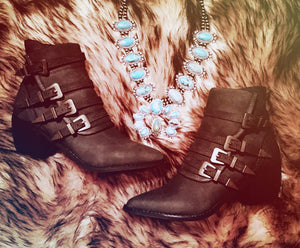 Fayth Buckle Booties