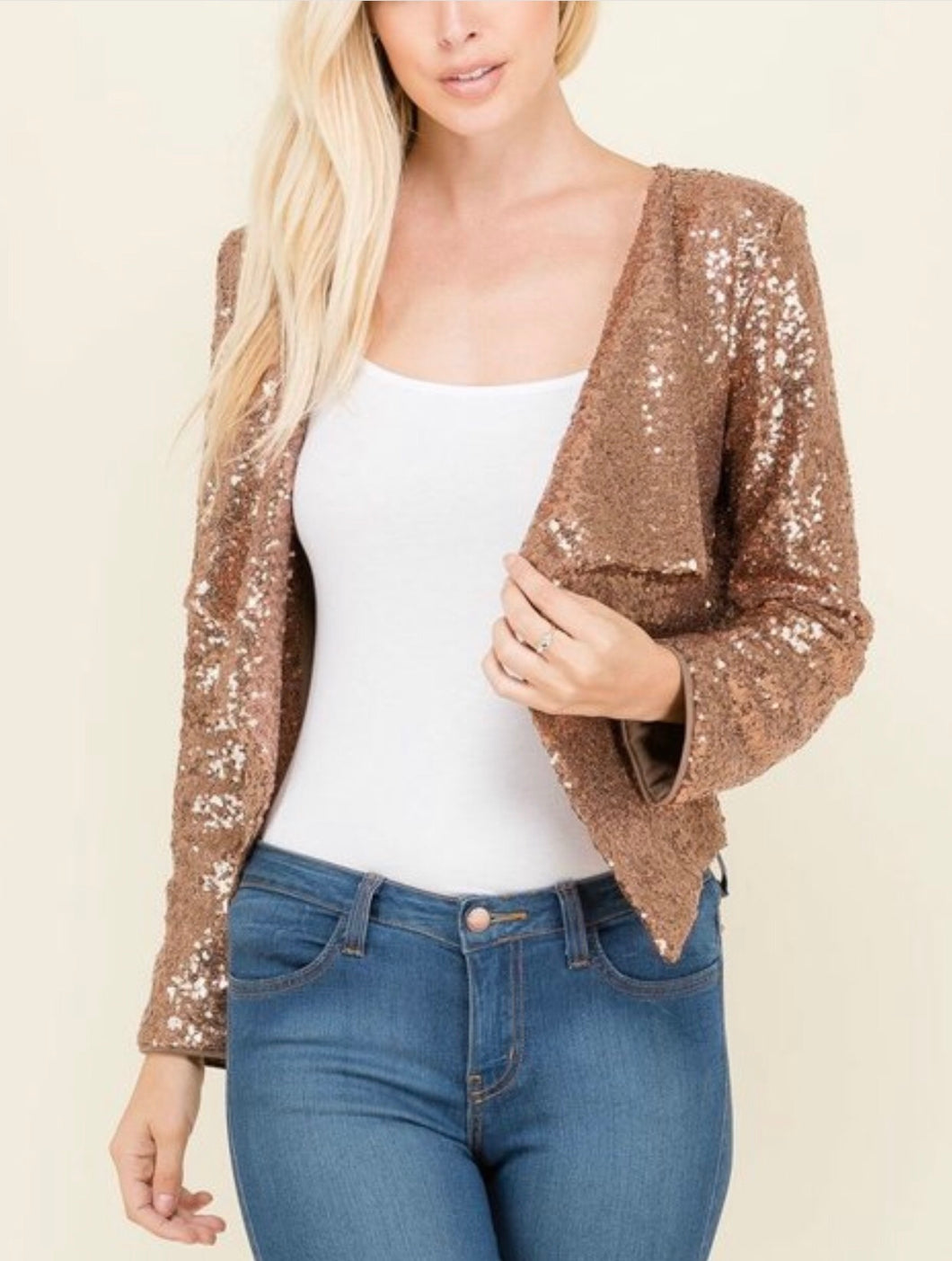 Sin City Bling Blazer - Bronze