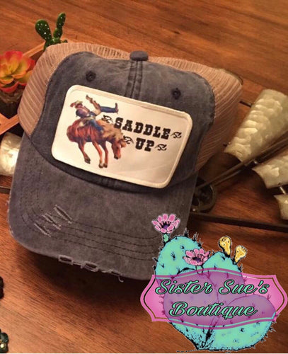 Saddle Up Distressed Hat