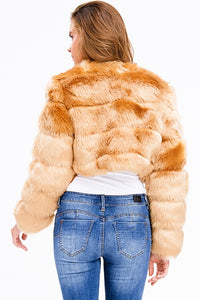 Golden Faux Fur Jacket