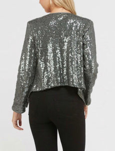Sin City Bling Blazer - Silver
