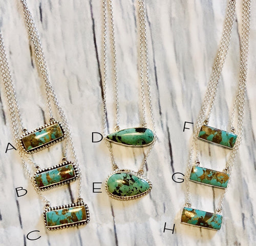 S S Bar B Turquoise Necklaces