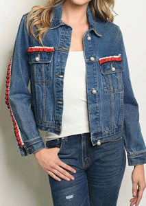 Ol' Glory Denim N' Pearls Jacket