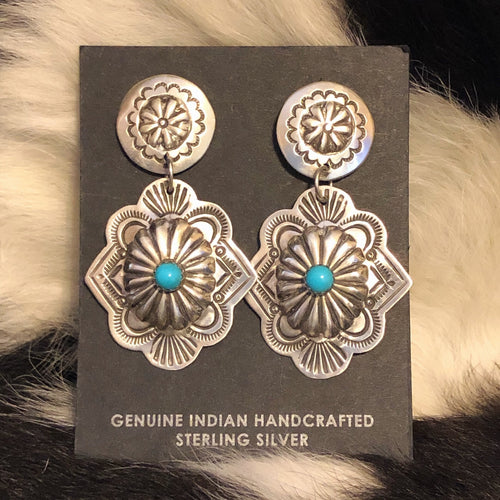 Sleeping Beauty Concho Earrings