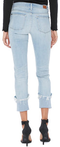Cuffed Light Wash Skinny Jeans