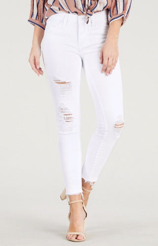 Destroyed White Skinny Jeans