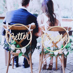 2pcs/set Bride Groom Chair Wood Signs Photo Props Rustic Wedding Wooden Chair Sign Pendant Decor Wedding Decoration