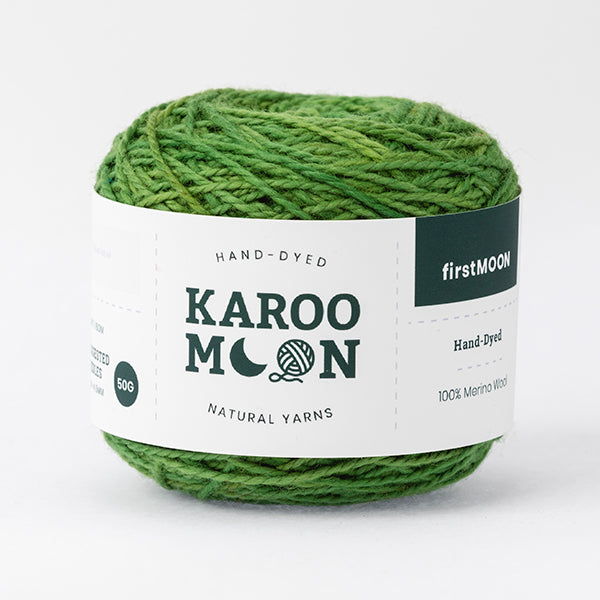first moon springbok colors green 100% merino wool ball band