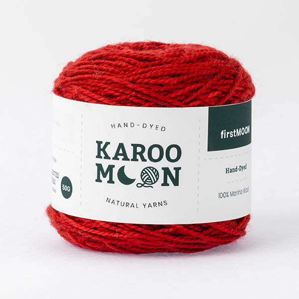 karoo moon 100% merino wool red wine colour wool ball band