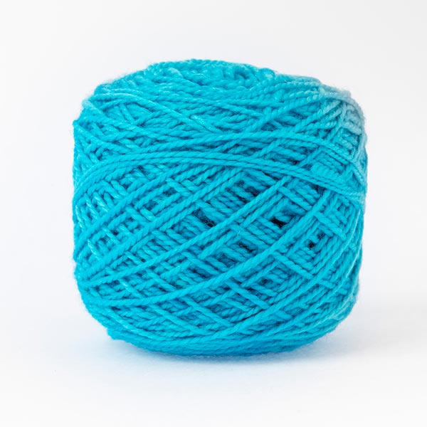 first moon ocean bay blue bright blue wool
