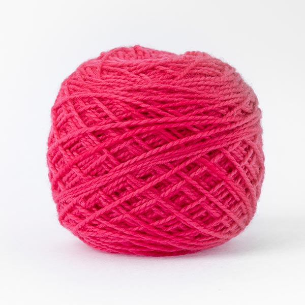 karoo moon first moon 100% merino wool cerise pink colour wool