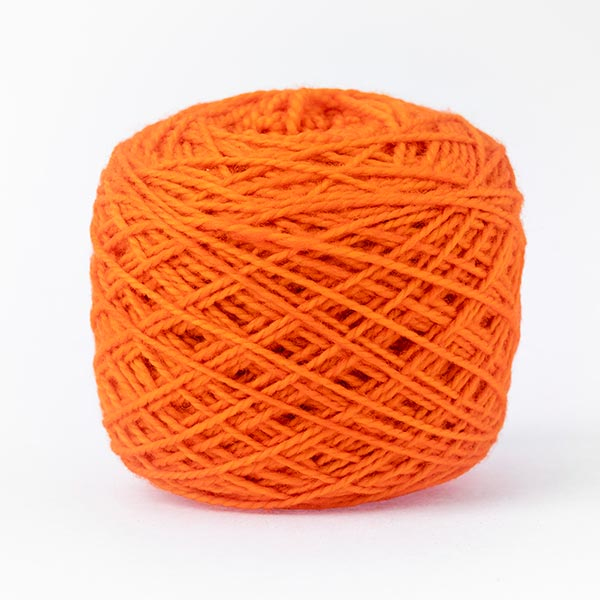 karoo moon 100% merino wool fuzzy orange colour wool