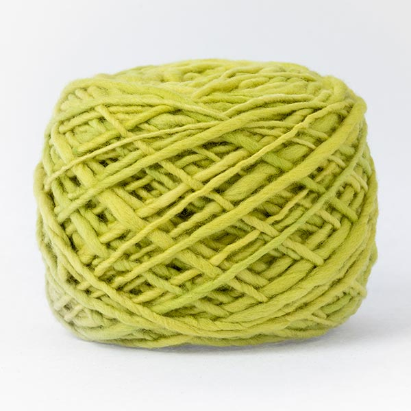 100% merino wool bright lime green colour