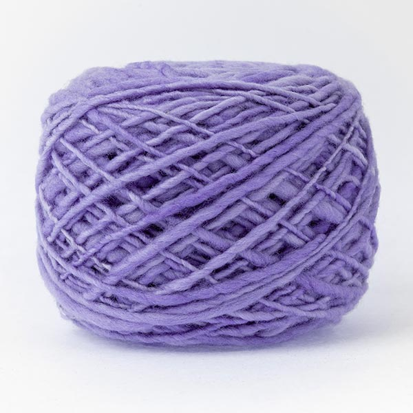 100% merino wool lavender purple colour ball of yarn