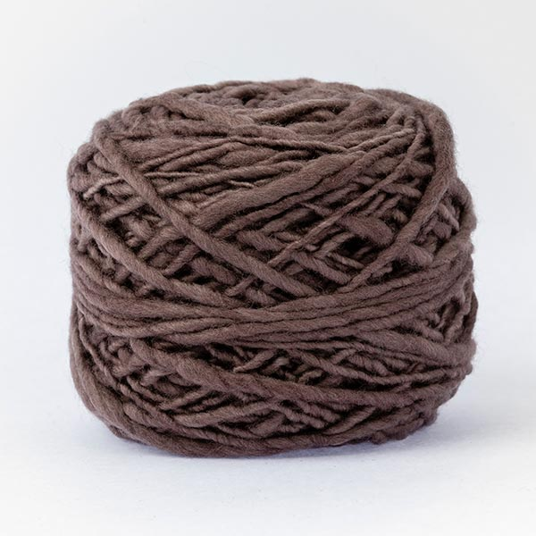 100% merino wool brown colour wool