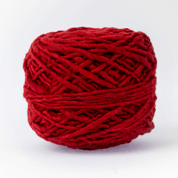 100% merino wool deep red colour wool