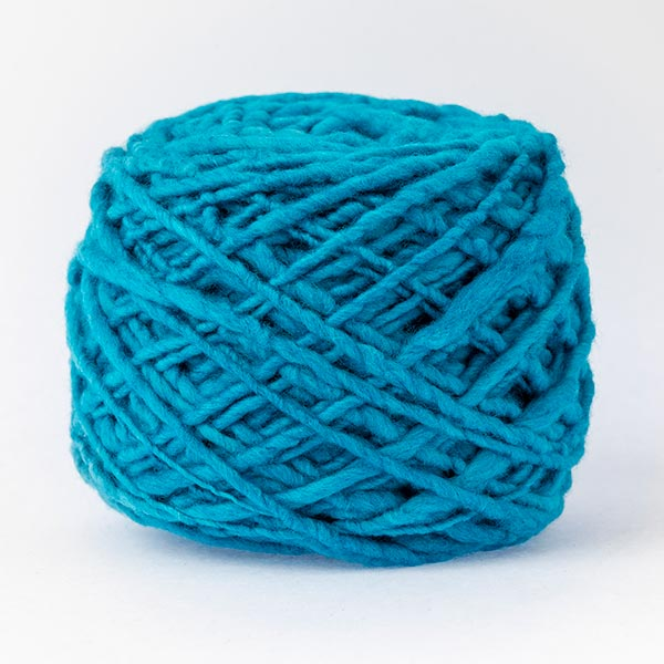 100% merino wool bright blue colour