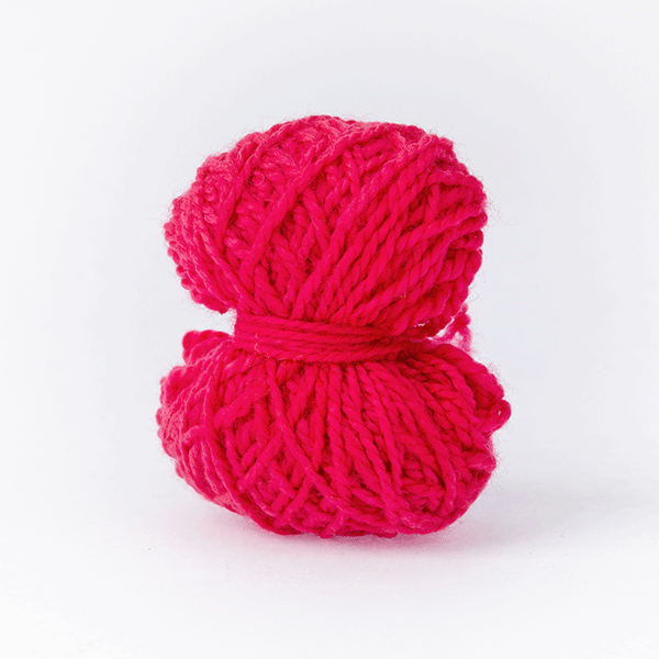 Cerise pink mini moon merino wool