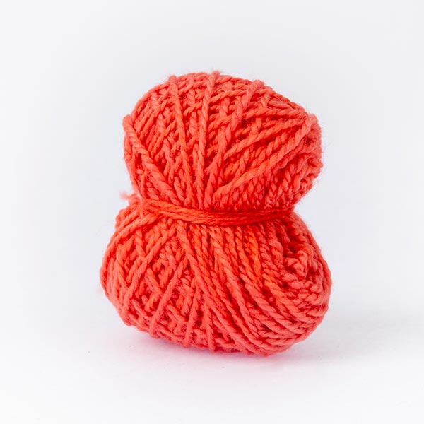 Coral red mini moon merino wool