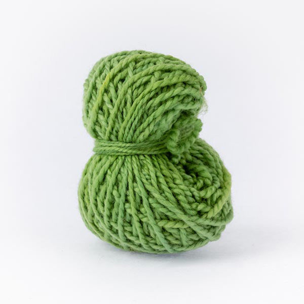 Rich green small ball merino wool