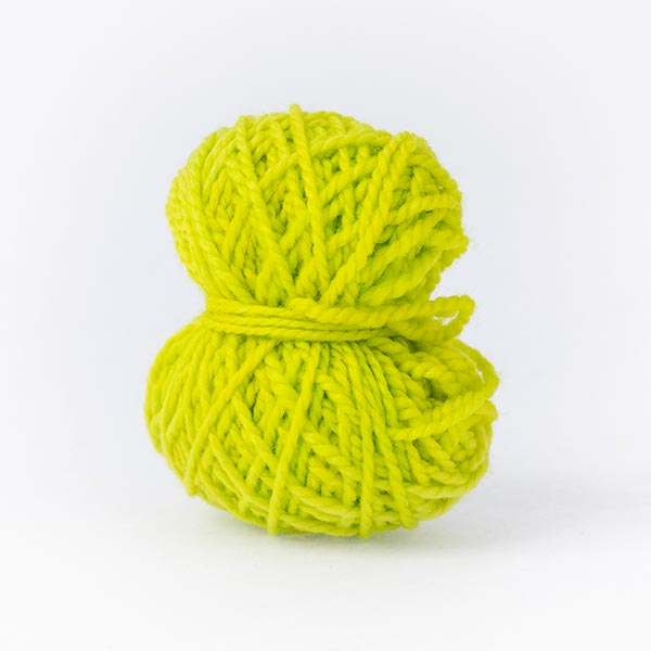 Lime bright ball merino wool