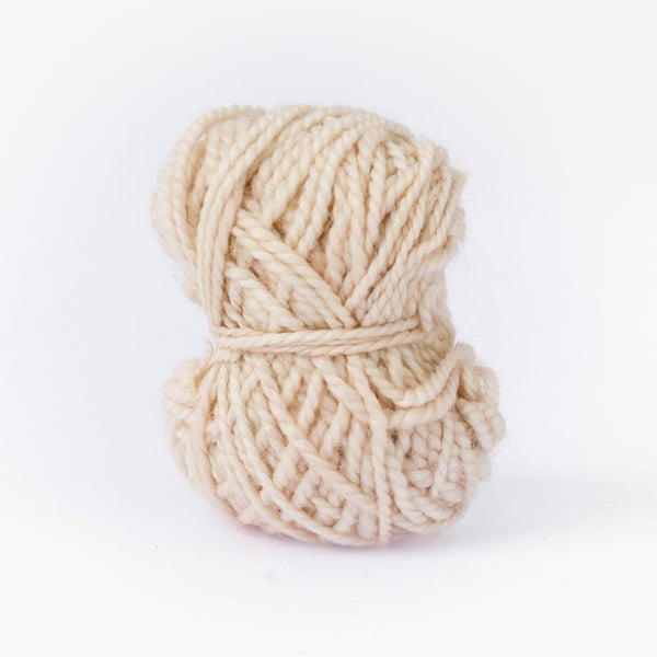 Light sand mini moon ball of yarn