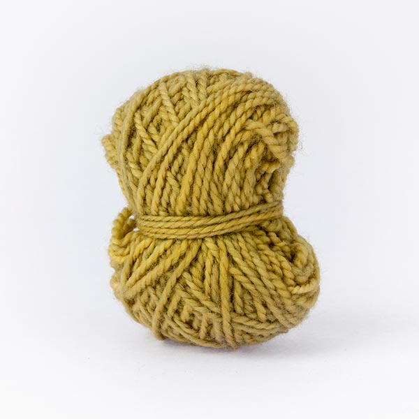 yellow fern mini ball of Karoo Moon wool