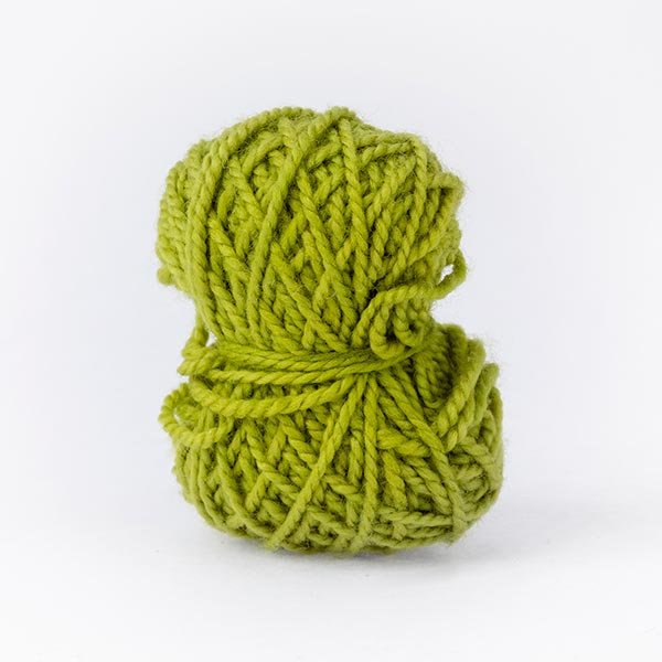 Stylish lime green ball merino wool mini