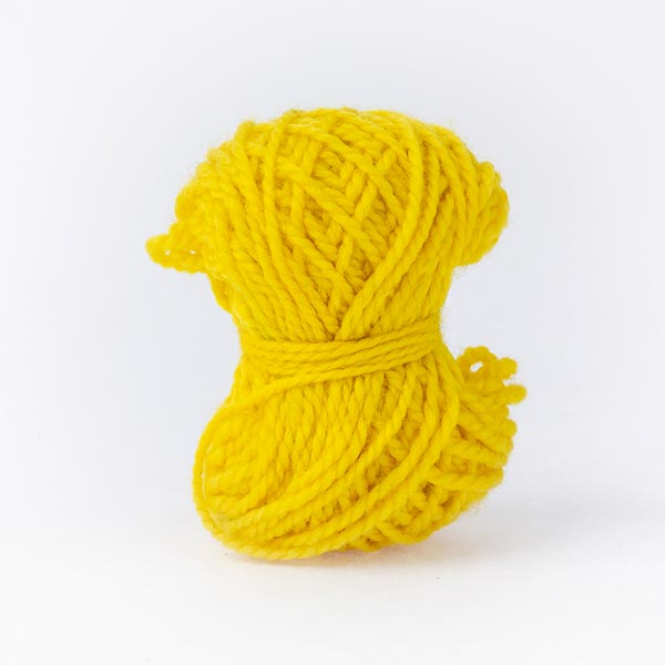 Bright summer yellow mini moon wool