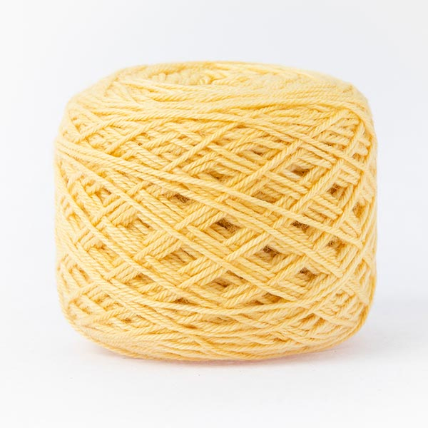 Butter yellow mixed moon wool blend yarn