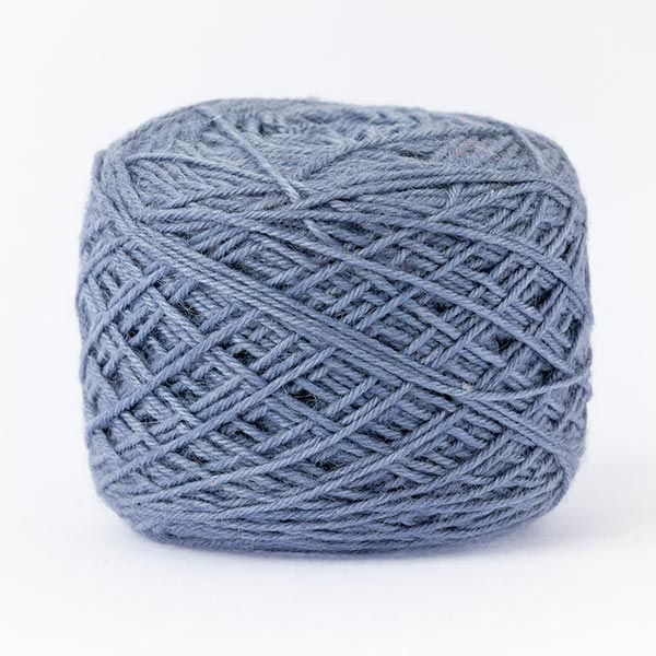 wool blend dull blue colour ball of yarn