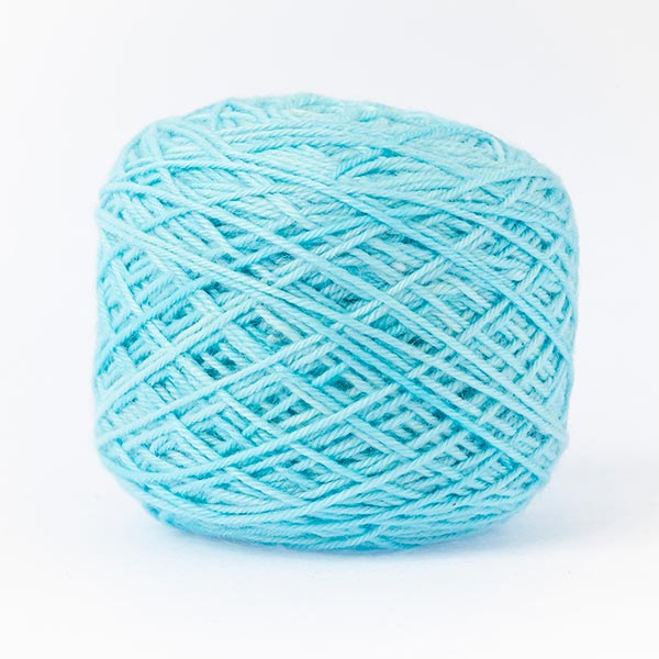 wool blend bright blue colour ball of yarn