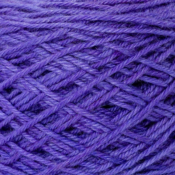 wool blend bright purple colour ball of yarn texture detail