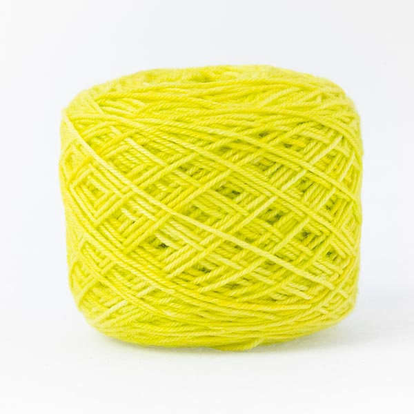 Lime green mixed moon wool blend