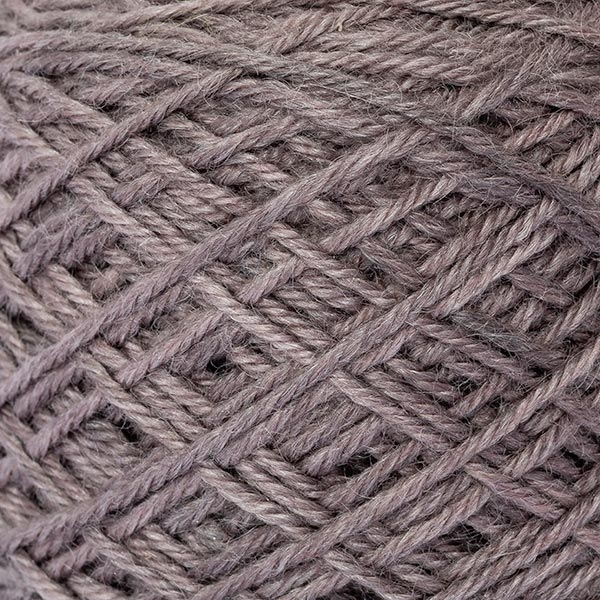 wool blend neutral pebble colour ball of yarn texture detail
