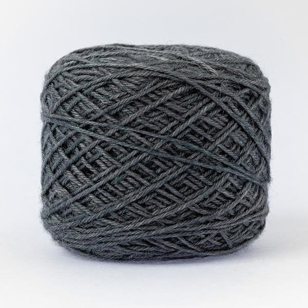 wool blend dark grey neutral colour ball of yarn