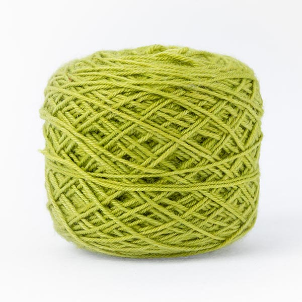 Stylish Lime green mixed moon wool blend yarn