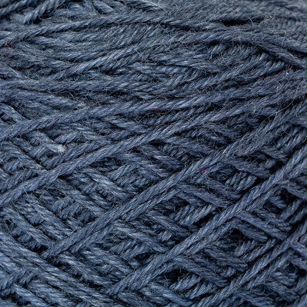 wool blend dull blue colour ball of yarn texture detail