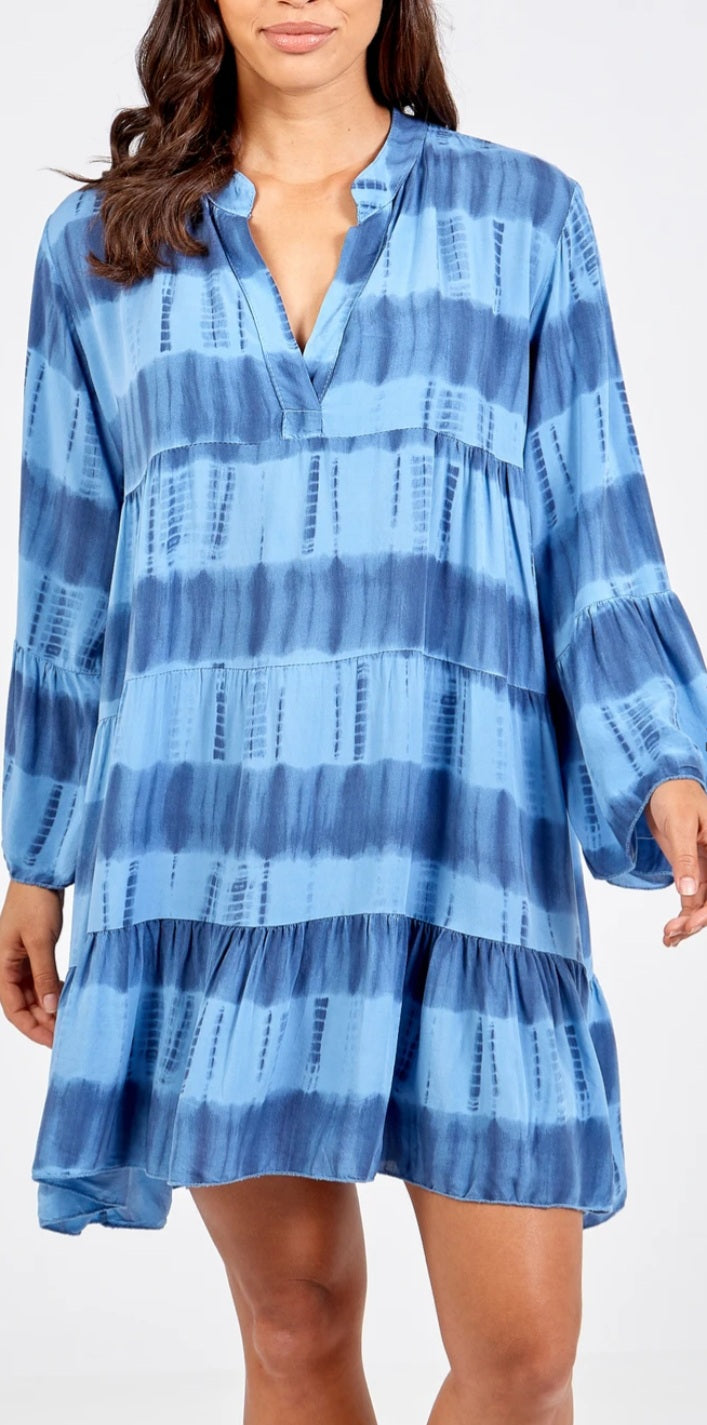 Phoebe Blue Tie Dye Dress