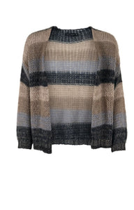 Filuca Cardigan in Grey/Brown