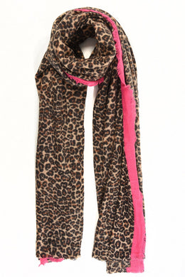 Thick Brown  Leopard Print Scarf