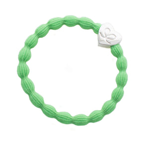 Silver Heart Neon Lime Green 'By Eloise'Bangle Hair Band