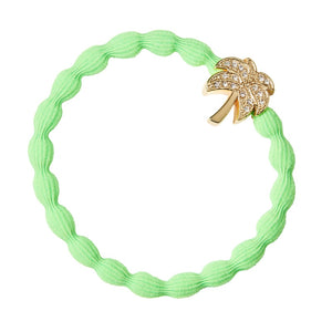 Gold diamanté palm tree green 'By Eloise'bangle band