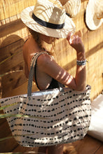Camel & Black Beach Bag