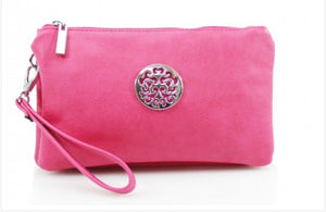 Pink Wristlet Mini Clutch Bag