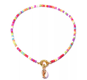 Cowrie Shell Multicoloured Necklace