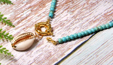 Turquoise Cowrie Shell Necklace