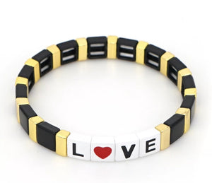 Love Tile Bracelet-Black